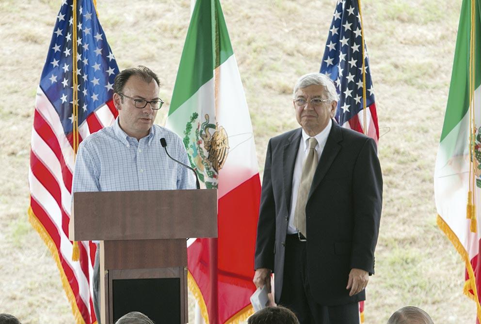 Photo of Luis Videgaray y Penny Pritzker inauguran puente ferroviario Internacional Matamoros–Brownsville