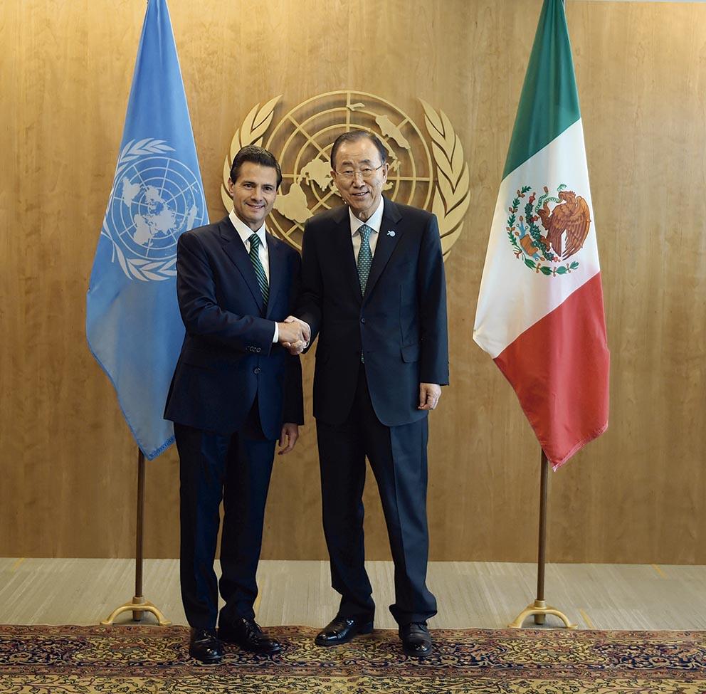 Photo of Se reúnen el Presidente Enrique Peña Nieto y el Secretario General de las Naciones Unidas, Ban Ki–Moon