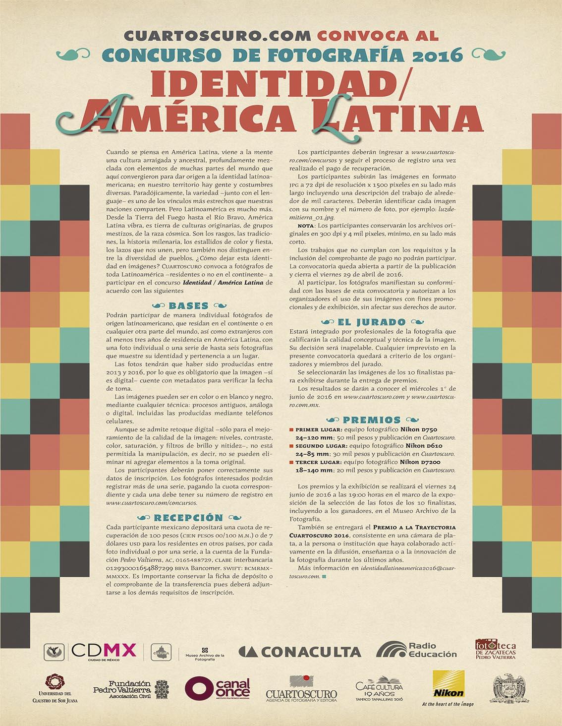 """Photo of Cuartoscuro.com convoca al concurso de fotografía 2016 """"Identidad / América Latina"""""""