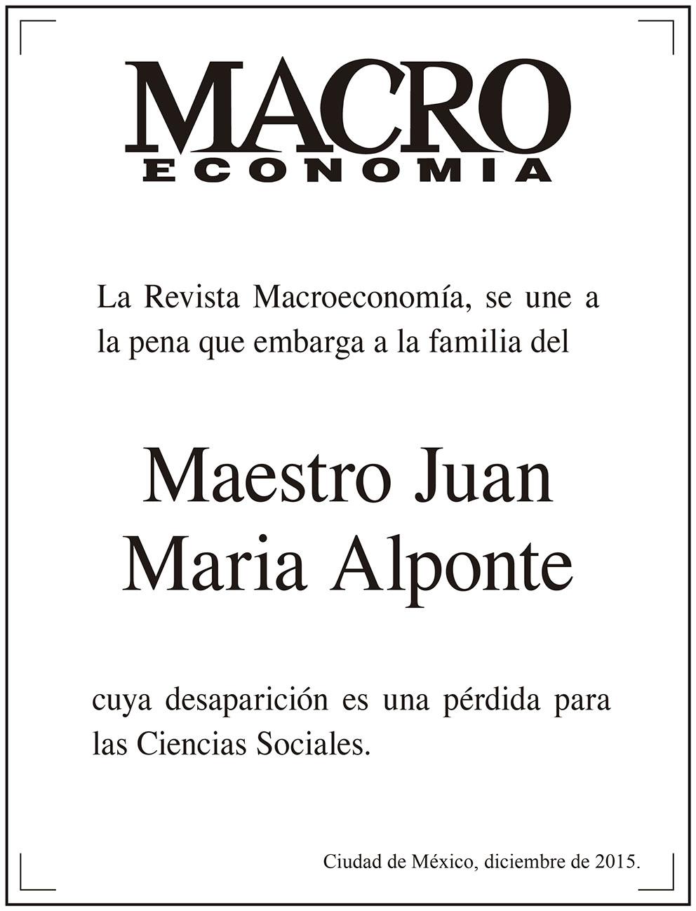 Photo of La Revista Macroeconomía, se une a la pena que embarga a la familia del Maestro Juan María Aponte