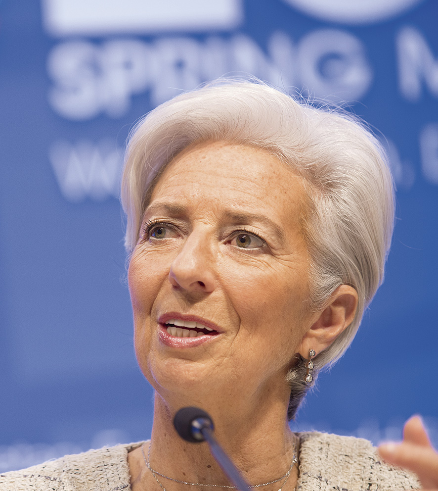 International Monetary Fund Managing Director Christine Lagarde anwers a question during her press conference April 14, 2016 at the IMF Headquarters in Washington, DC. The IMF/World Bank Spring meetings are being held in Washington this week. IMF Staff Photograph/Stephen Jaffe
