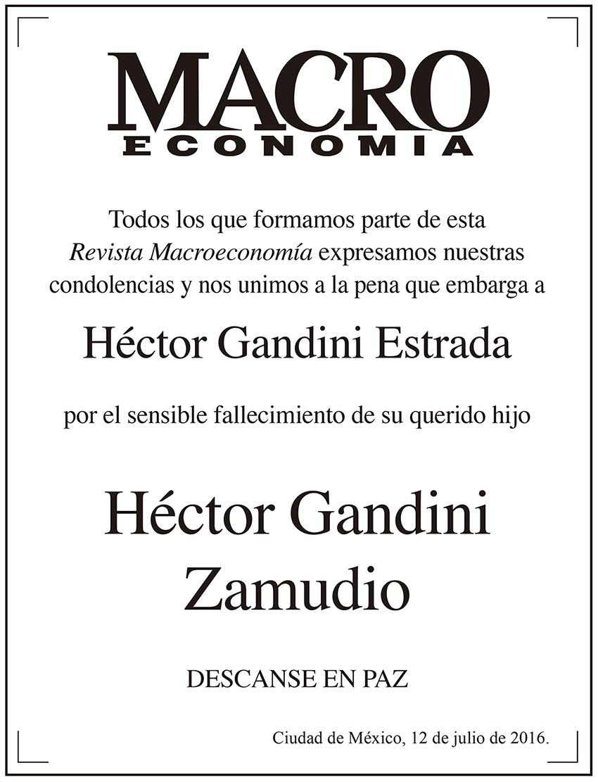 Photo of Macroeconomía se une a la pena que embarga a Héctor Gandini Estrada