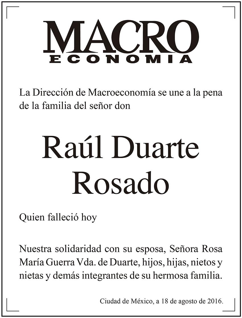 Photo of La Dirección de Macroeconomía se une a la pena de la familia del señor don Raúl Duarte Rosado quien falleció hoy
