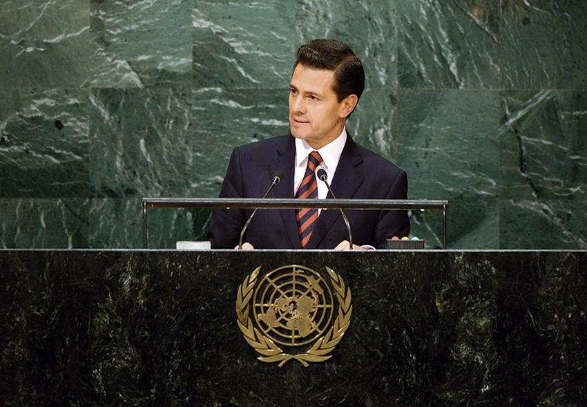 """Photo of """"México refrenda compromiso con los principios democráticos, como único camino para la consecución de objetivos de desarrollo sostenible"""": Enrique Peña Nieto"""