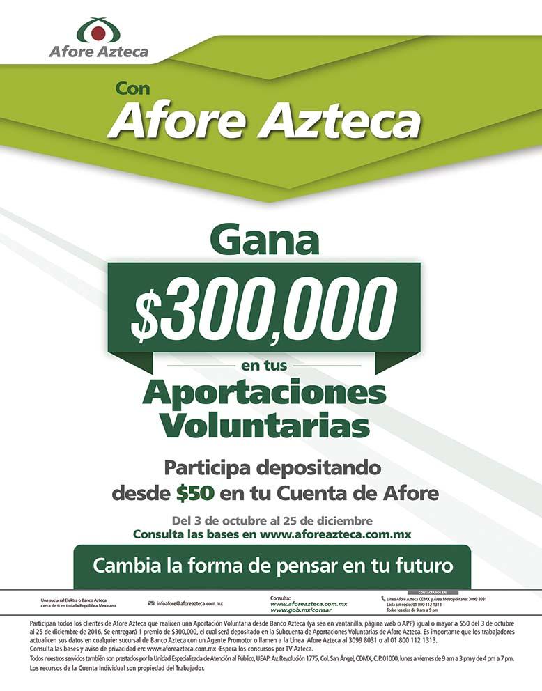 Photo of Con Afore Azteca gana $300,000 en tus Aportaciones Voluntarias