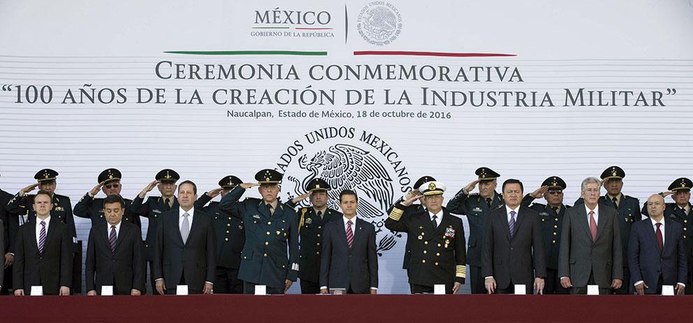 Photo of Encabezó el Presidente Enrique Peña Nieto la conmemoración de los 100 años de la creación de la Industria Militar