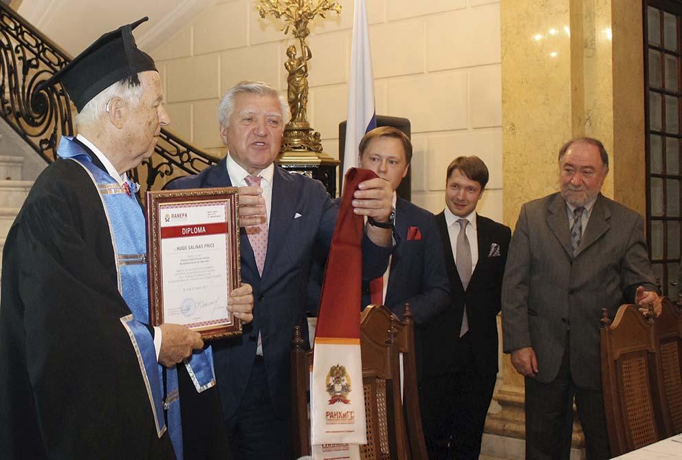 Photo of Rusia rinde homenaje a Hugo Salinas Price
