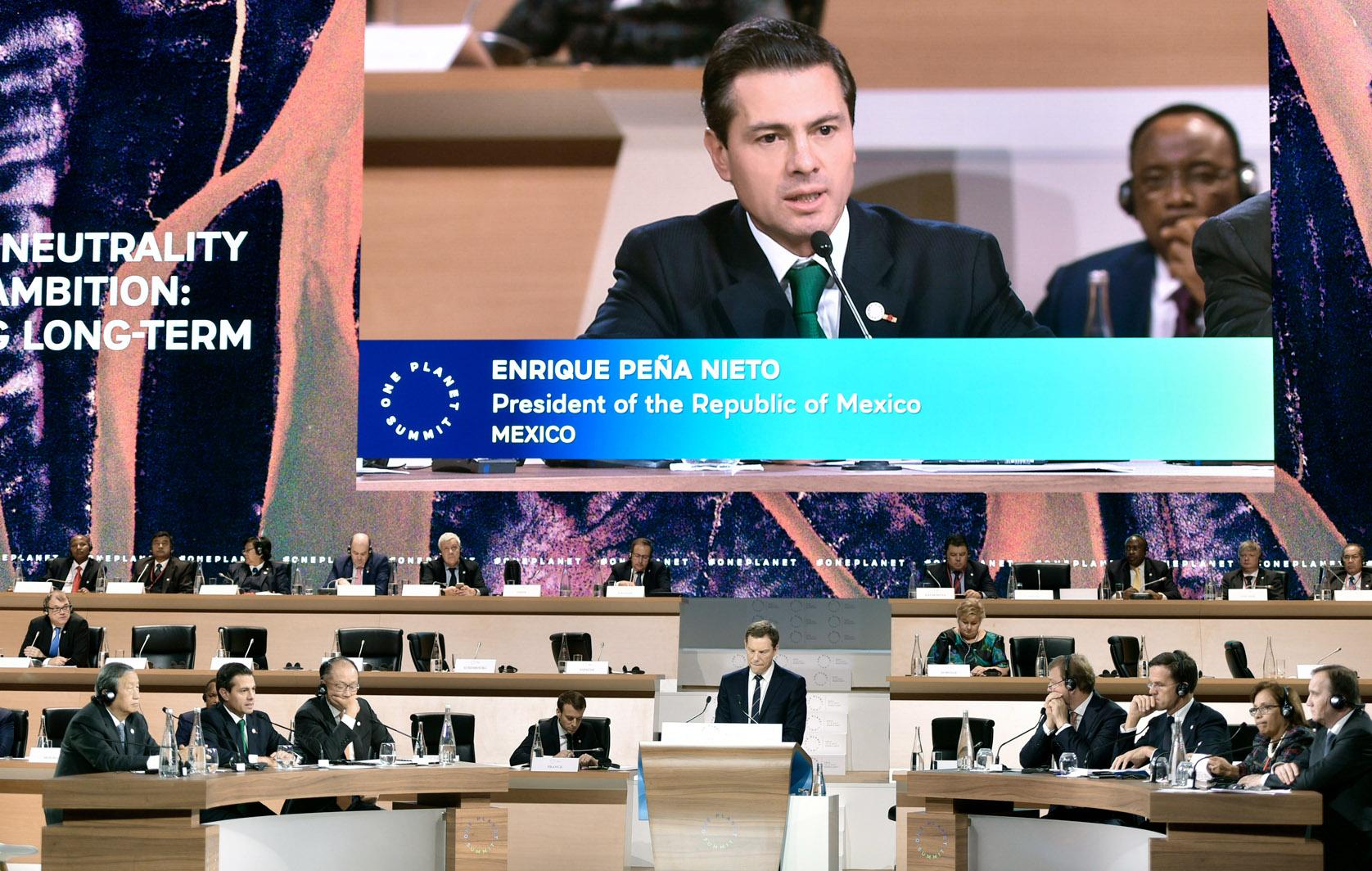 Photo of Anunció el Presidente Peña Nieto tres nuevas acciones de México para acelerar la lucha contra el cambio climático