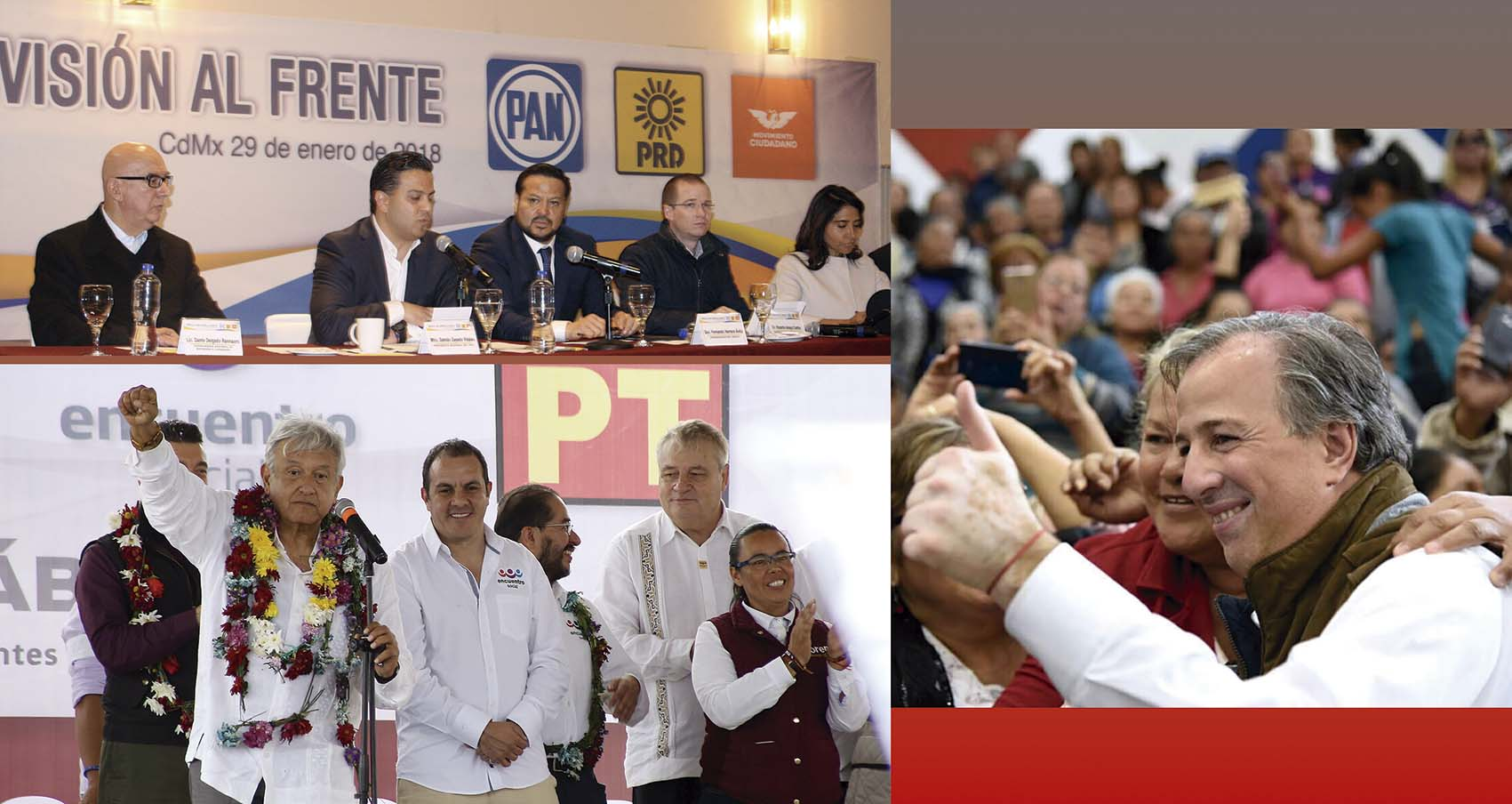 Photo of Se intensifica la Carrera Presidencial entre Meade, Anaya y López Obrador