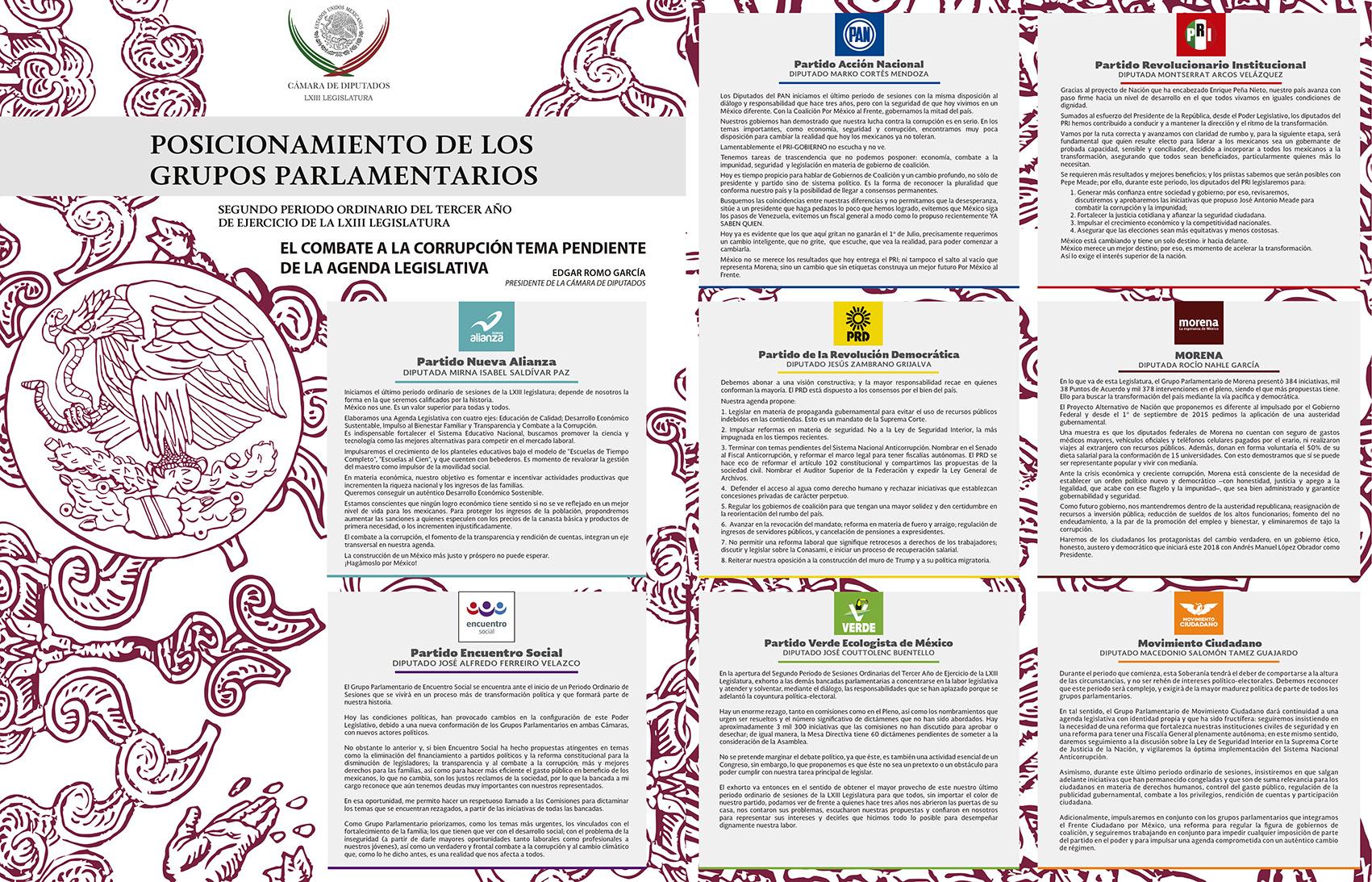 Photo of Posicionamiento de los Grupos Parlamentarios