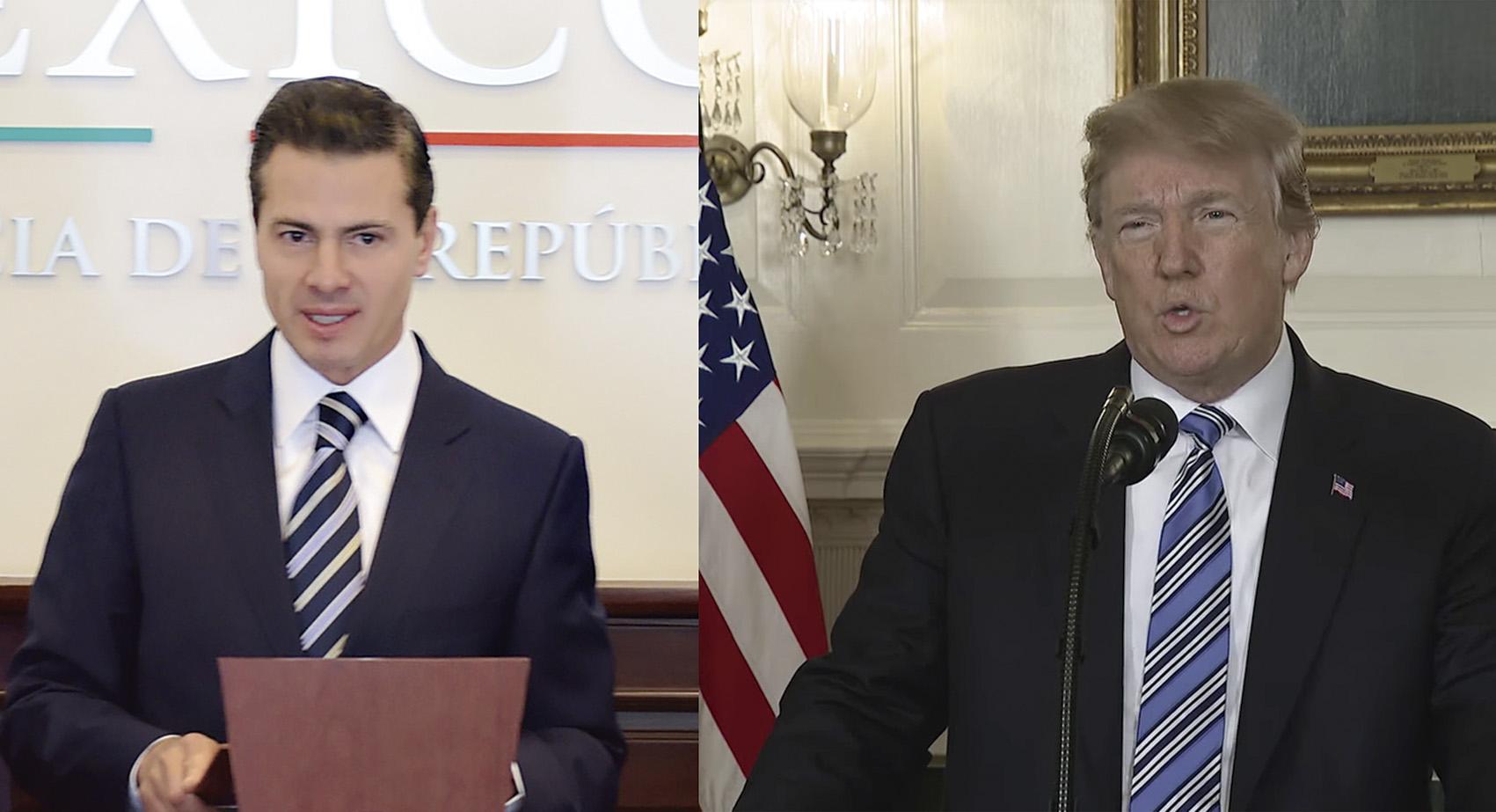 Photo of Diálogo telefónico entre Peña Nieto y Trump