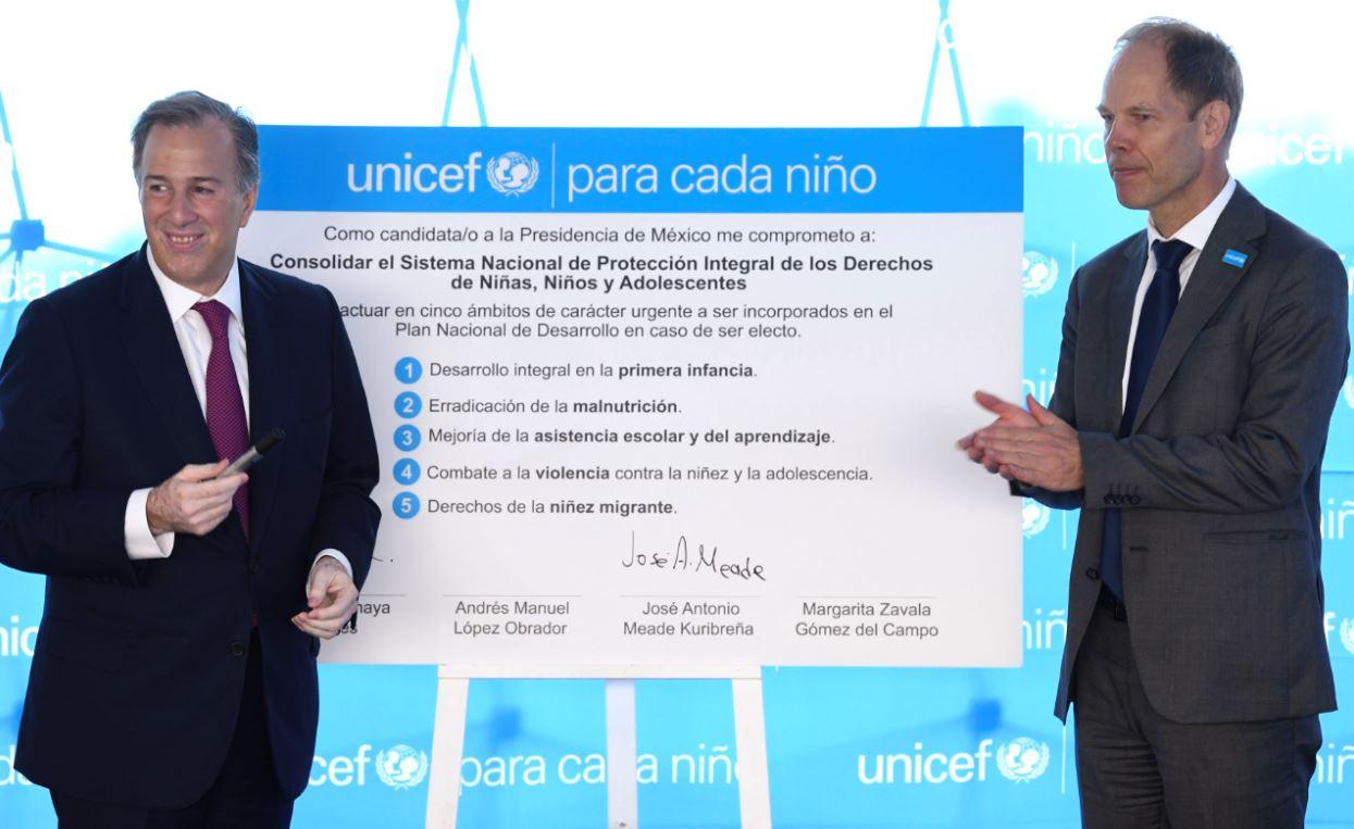 Photo of José Antonio Meade se compromete con el UNICEF a velar por el bienestar de la niñez en México