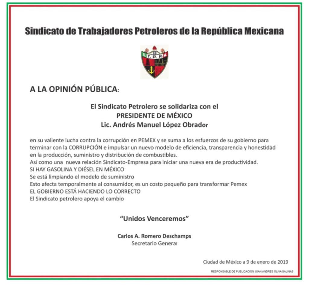 Photo of El STPRM apoya medidas del Gobierno de México para combatir robo de combustibles