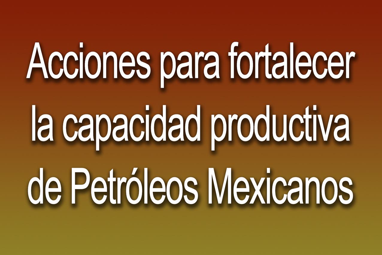 Photo of Acciones para fortalecer la capacidad productiva de Petróleos Mexicanos