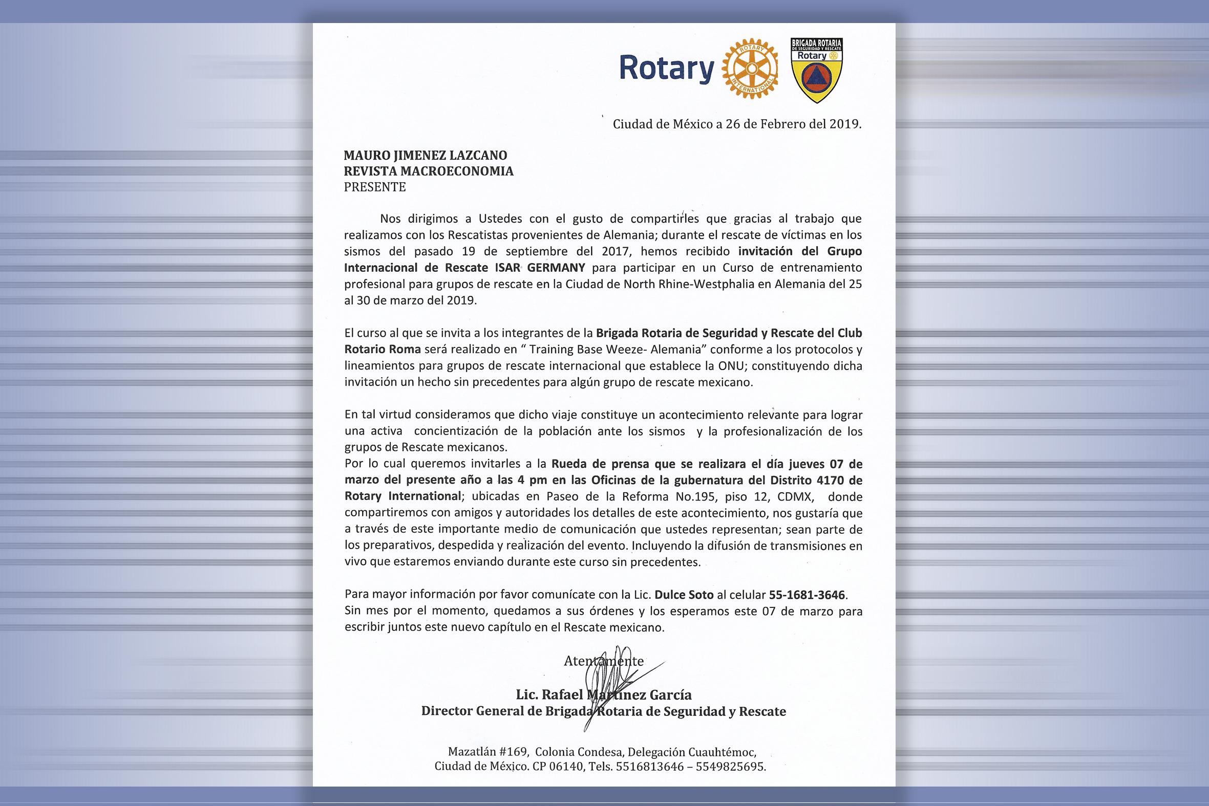 Photo of Curso de entrenamiento profesional para Grupos de Rescate ofrece Alemania a los Brigadistas Rotarios de México