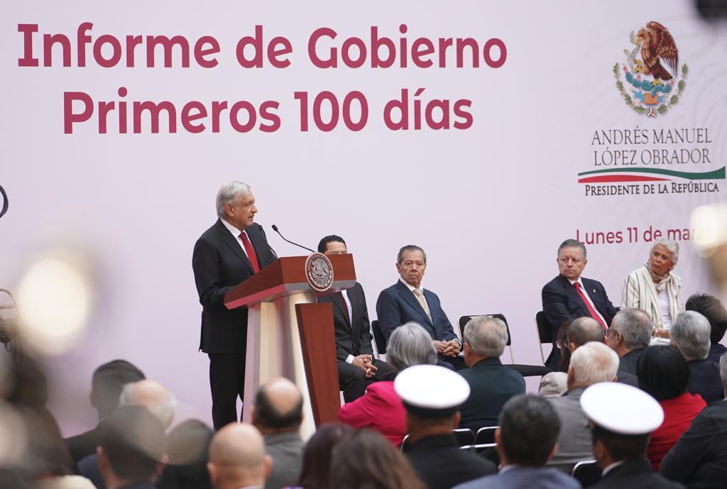 Photo of Mensaje del Presidente Andrés Manuel López Obrador en el informe de los primeros 100 días de gobierno