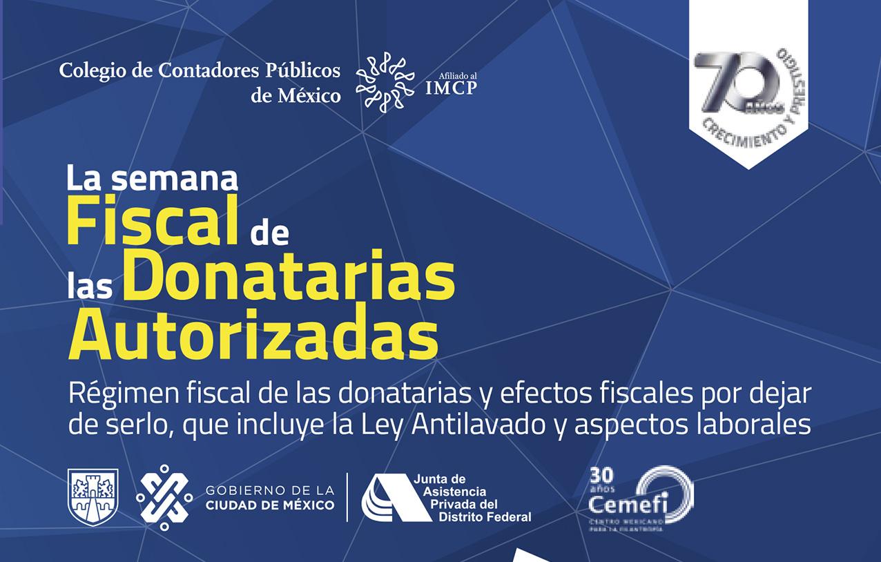 Photo of La semana Fiscal de las Donatarias Autorizadas