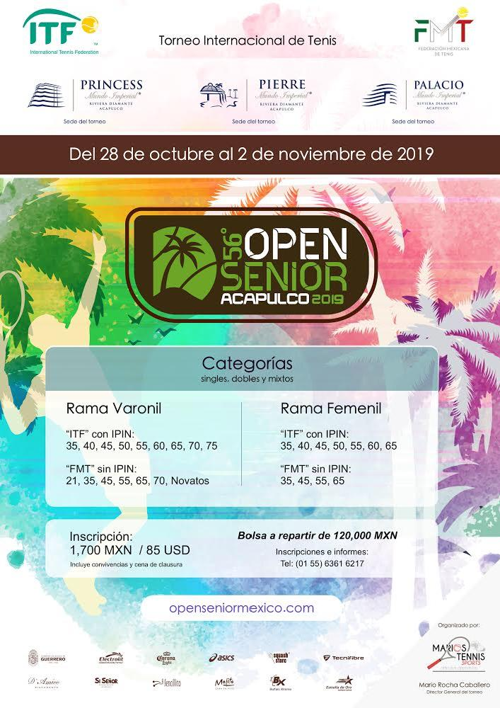 Photo of 56 Open Senior Acapulco 2019