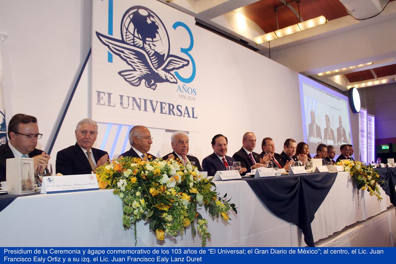 """Photo of Fastuosa celebración del 103 Aniversario de """"El Universal; el Gran Diario de México"""""""