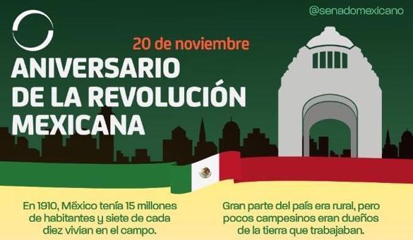 Photo of 20 de noviembre, aniversario de la Revolución Mexicana