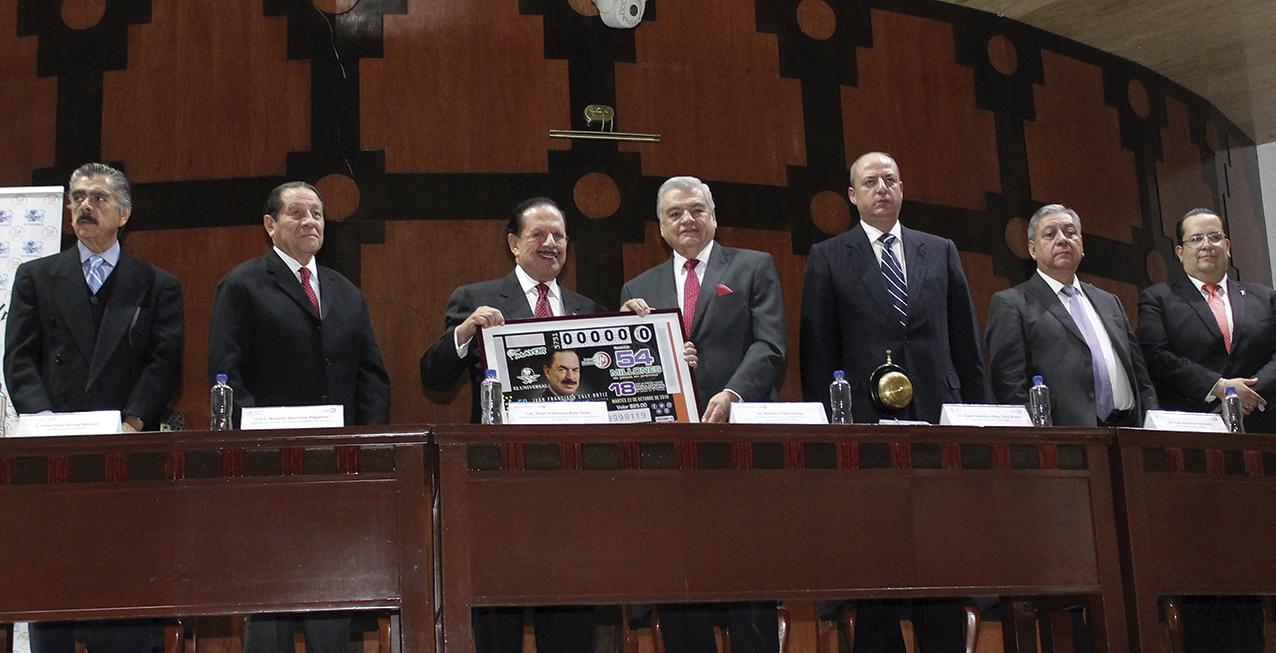 """Photo of Billete de Lotería conmemorativo de los 50 años de Juan Francisco Ealy Ortiz como Director de """"El Universal"""""""