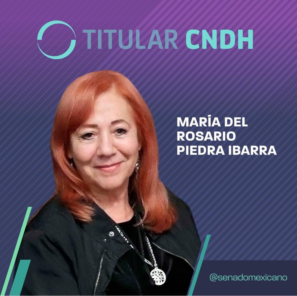 Photo of María del Rosario Piedra Ibarra, titular CNDH
