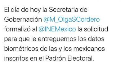 Photo of El INE manifiesta que legalmente no entregará los datos de los ciudadanos a la SEGOB