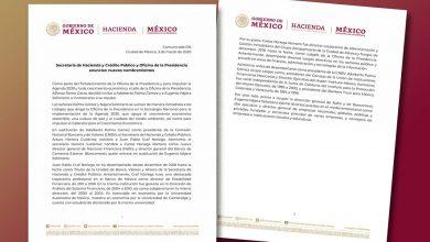 Photo of Secretaría de Hacienda y Crédito Público y Oficina de la Presidencia anuncian nuevos nombramientos