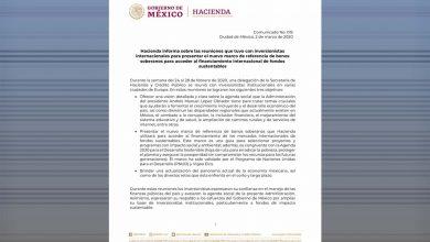 Photo of Hacienda informa sobre las reuniones que tuvo con inversionistas internacionales para presentar el nuevo marco de referencia de bonos soberanos para acceder al financiamiento internacional de fondos sustentables