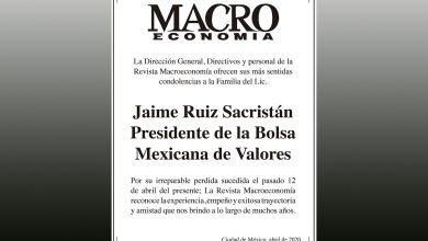 Photo of Revista Macroeconomía lamenta el fallecimiento de Jaime Ruiz Sacristán