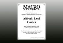 Photo of La Revista Macroeconomía expresa sus condolencias a la familia del licenciado Alfredo Leal Cortés
