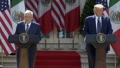 Photo of Mensaje del Presidente Andrés Manuel López Obrador durante la reunión con el Presidente Donald Trump