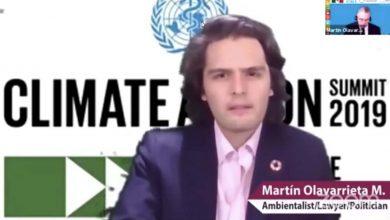 """Photo of Martín Olavarrieta Maturana: """"El Cambio Climático es la amenaza más real de nuestros tiempos"""""""