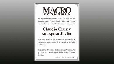 Photo of La Revista Macroeconomía se une a la pena del Club Rotario Plateros Centro Histórico, Distrito 4170 por el sensible fallecimiento del matrimonio compuesto  por Claudio Cruz y su esposa Jovita