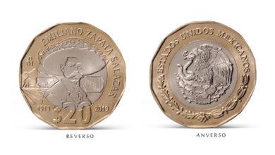 """Photo of Banxico pone en circulación la moneda de 20 pesos conmemorativa del """"Centenario de la muerte del general Emiliano Zapata Salazar"""""""
