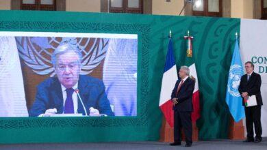 Photo of António Guterres, Secretario General de la ONU, exhorta a México a proteger a las mujeres y luchar por sus derechos