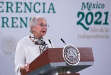 """Photo of """"México fue de los primeros luchadores por la igualdad de la mujer, desde 1976"""", dijo Olga Sánchez Cordero al Secretario de la ONU Guterres y al Presidente Macron"""
