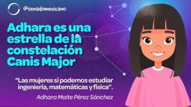 Photo of Adhara Maite Pérez Sánchez, con tan solo 9 años de edad, la niña genio mexicana