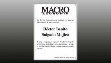 Photo of La Revista Macroeconomía participa con pena el fallecimiento de nuestro amigo