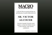 Photo of La Revista Macroeconomía participa con profunda pena el sensible fallecimiento del Sr. Victor Alcocer