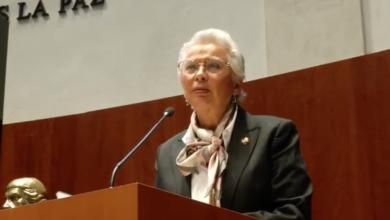 Photo of Senadora Olga Sánchez Cordero, Presidenta de la Mesa Directiva