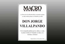 Photo of La Dirección de la Revista Macroeconomía expresa su más sentido pésame a la familia del señor Jorge Villalpando