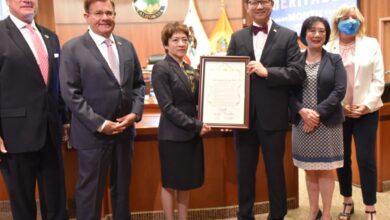 Photo of El Consejo de Supervisores del Condado de Orange otorga Reconocimiento a la Dra. Audrey Rivera Gómez Cónsul de México en Santa Ana California